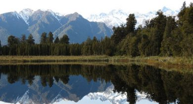 Lake Matheson, South Westland, New Zealand