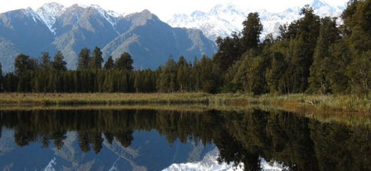 Lake Matheson, South Westland, New Zealand