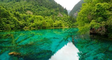 Five-Flower Lake, Sichuan, China