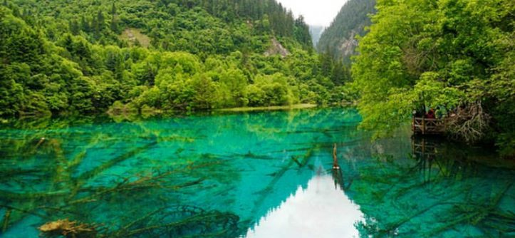 Five-Flower Lake, Sichuan, China