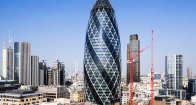 The Gherkin Building, London, UK