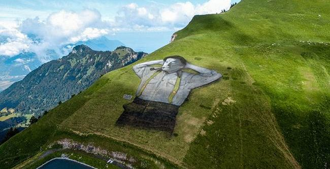 graffite on Mountain